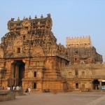 El gran templo de Brihadisvara en Thanjavur