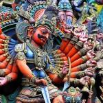 Rávana, el rey de los demonios rakshasas