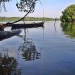 La isla fluvial Uppinakudru, en el río Gangavali
