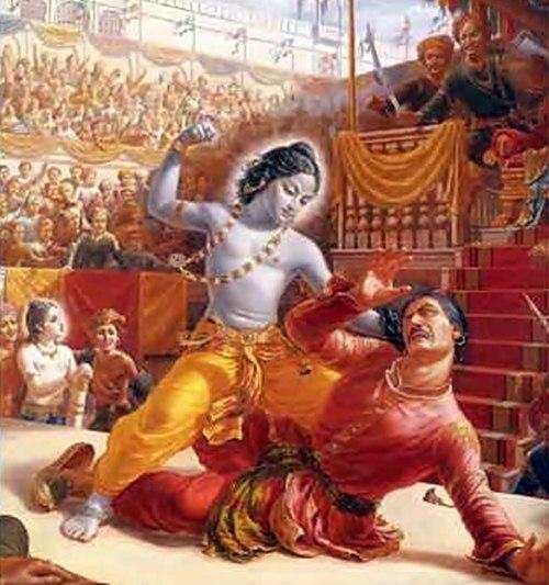 Krishna mata a Kamsa