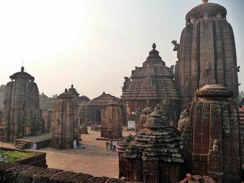 El templo de Lingaraja en Bhubaneswar