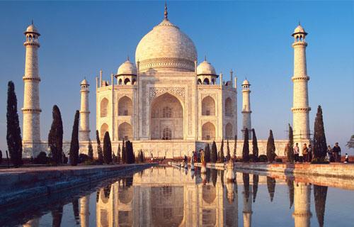 Taj Mahal reflejos