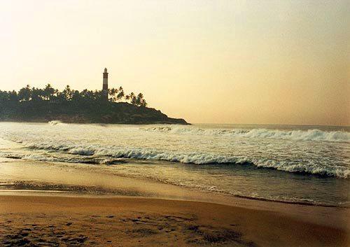 La playa Kovalam, en Kerala