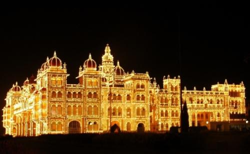Bello palacio de Mysore