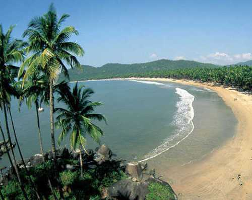 La playa de Palolem, en Goa