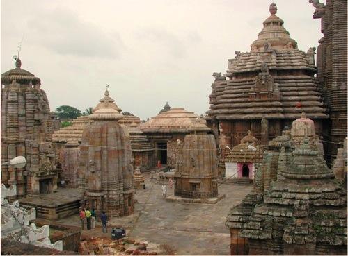 El templo de Lingaraj, en Bhubaneswar.