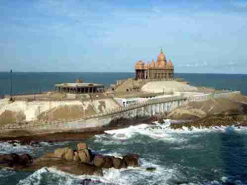 El Memorial de Vivekananda., Kanyakumari