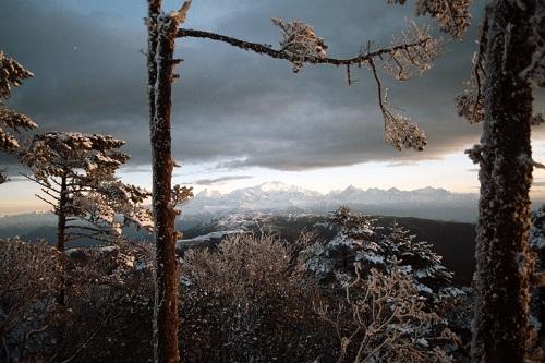 Vistas desde Sandakphu, Himalaya