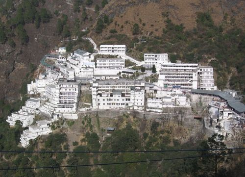 El templo de Vaishno Devi, Jammu.