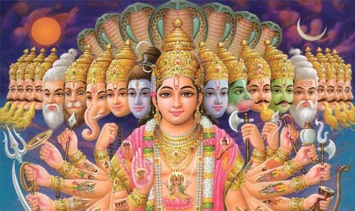 El dios Vishnu y sus principales avatares