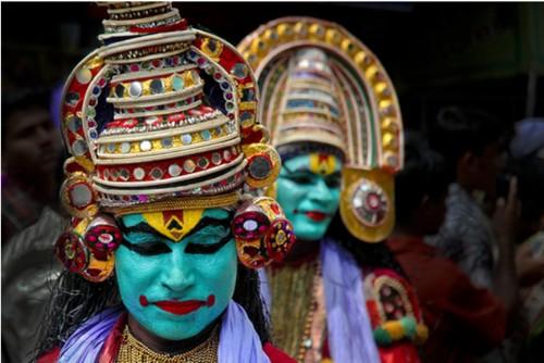 Mascaras onam de Kerala