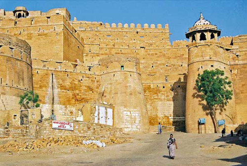 Jaisalmer, la ciudad y el fuerte en Rajasthan