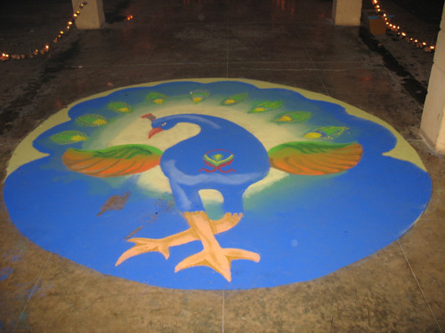 Rangoli, el arte popular del color en la India