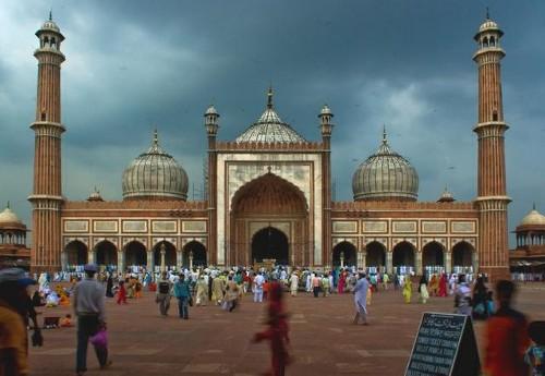 La Jama Masjid: la mayor mezquita de la India
