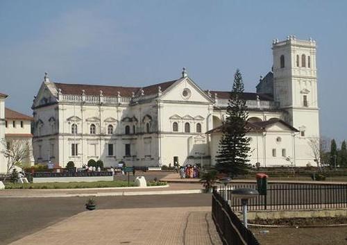 La catedral de Santa Catalina, en Vieja Goa