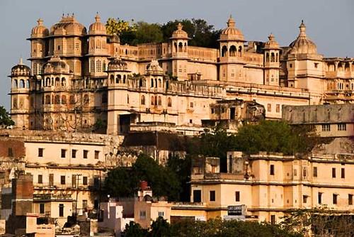 El precioso Palacio de la Ciudad, en Udaipur
